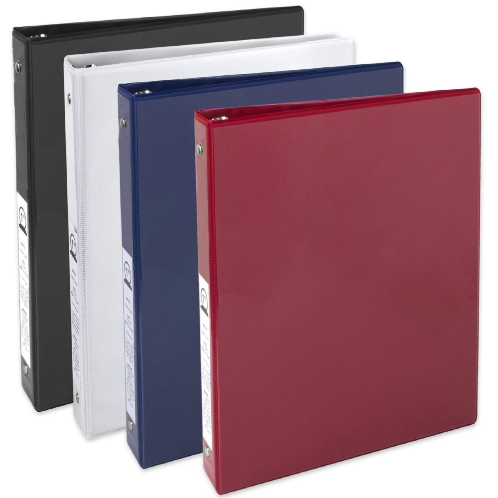 24 units of 1 inch binder with two pockets assorted clipboards