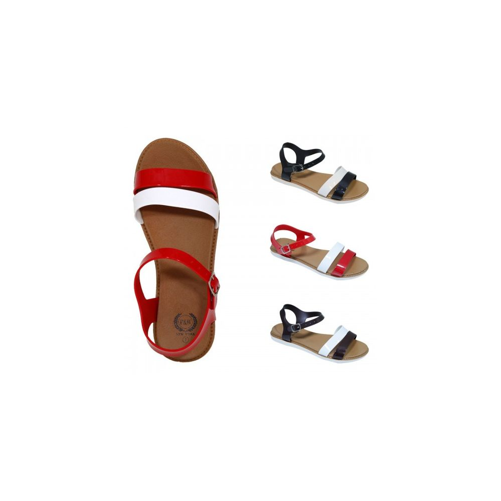 30 Units of Women's Multi-Color Strap Sandal