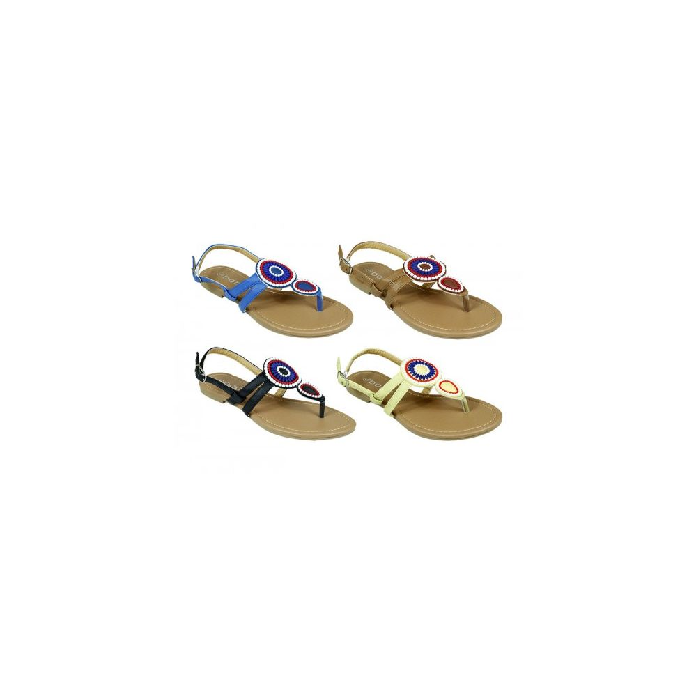 48 Units of Women's Beaded Sandal - Womens Sandals