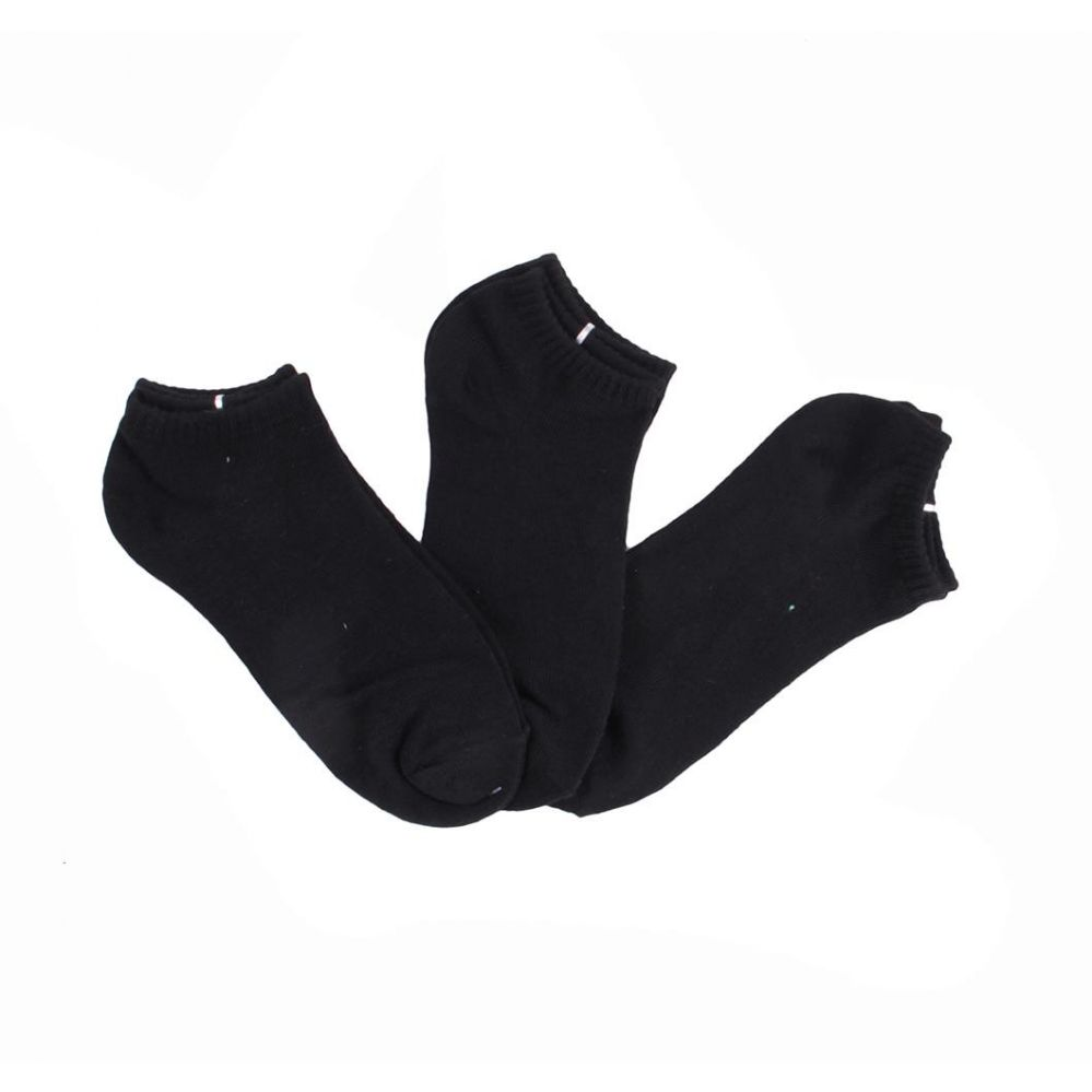120 Units of Womens Basic Black Cotton Blend Ankle Socks/ No Show Ankle - Womens Ankle Sock