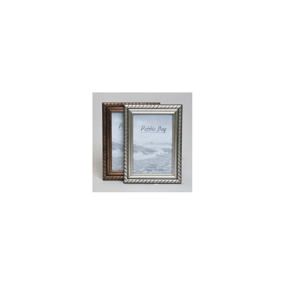 240 Units of Frame 4x6 Antique Gold/silver Plastic In 12pc Pdq ...