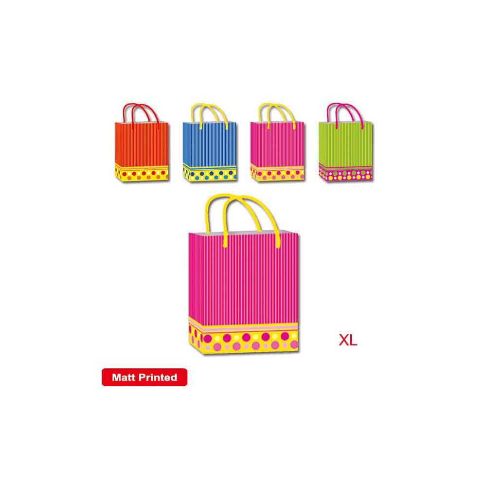 "144 Units of Bag strip 13x18x5.5""/X Large - Gift Bags"