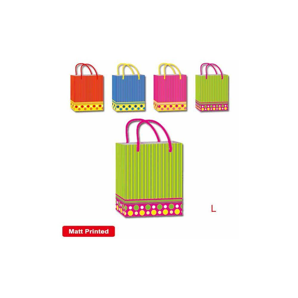 "144 Units of Bag strip 10.5x13x5.5"" /Large - Gift Bags"