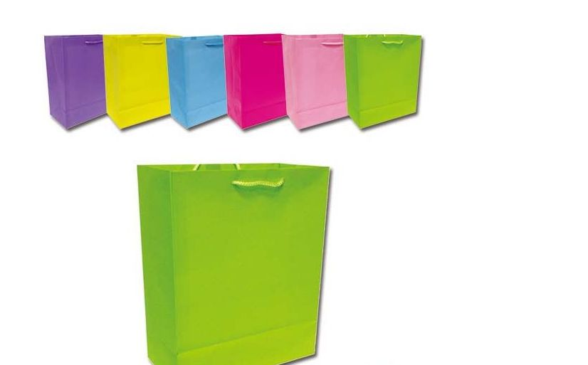 """144 Units of bag solid color 13x18x5.5""""/X Large - Gift Bags"""