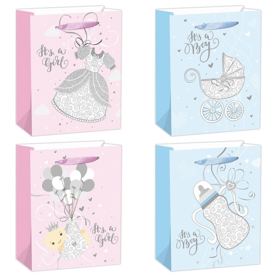 """144 Units of Baby bag 13x18x5.5""""/X Large - Gift Bags"""