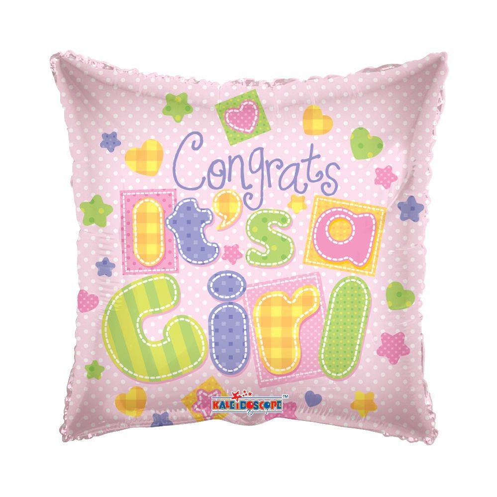 """125 Units of 2-side """"congrats a girl"""" Balloon - Balloons/Balloon Holder"""