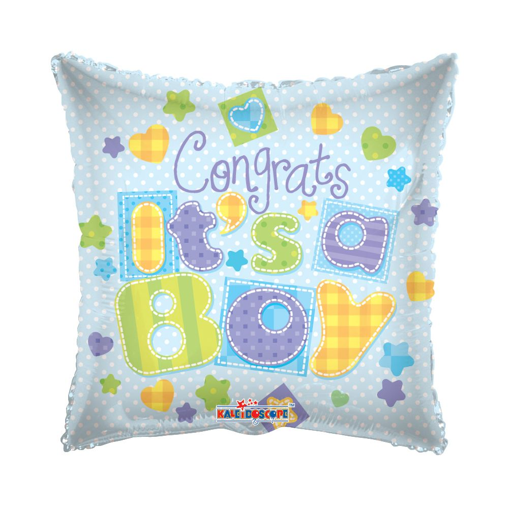 """125 Units of 2-side """"congrats a boy"""" Balloon - Balloons/Balloon Holder"""