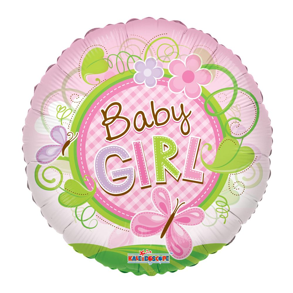 "125 Units of 2-side ""Baby girl"" premium Balloon - Balloons/Balloon Holder"