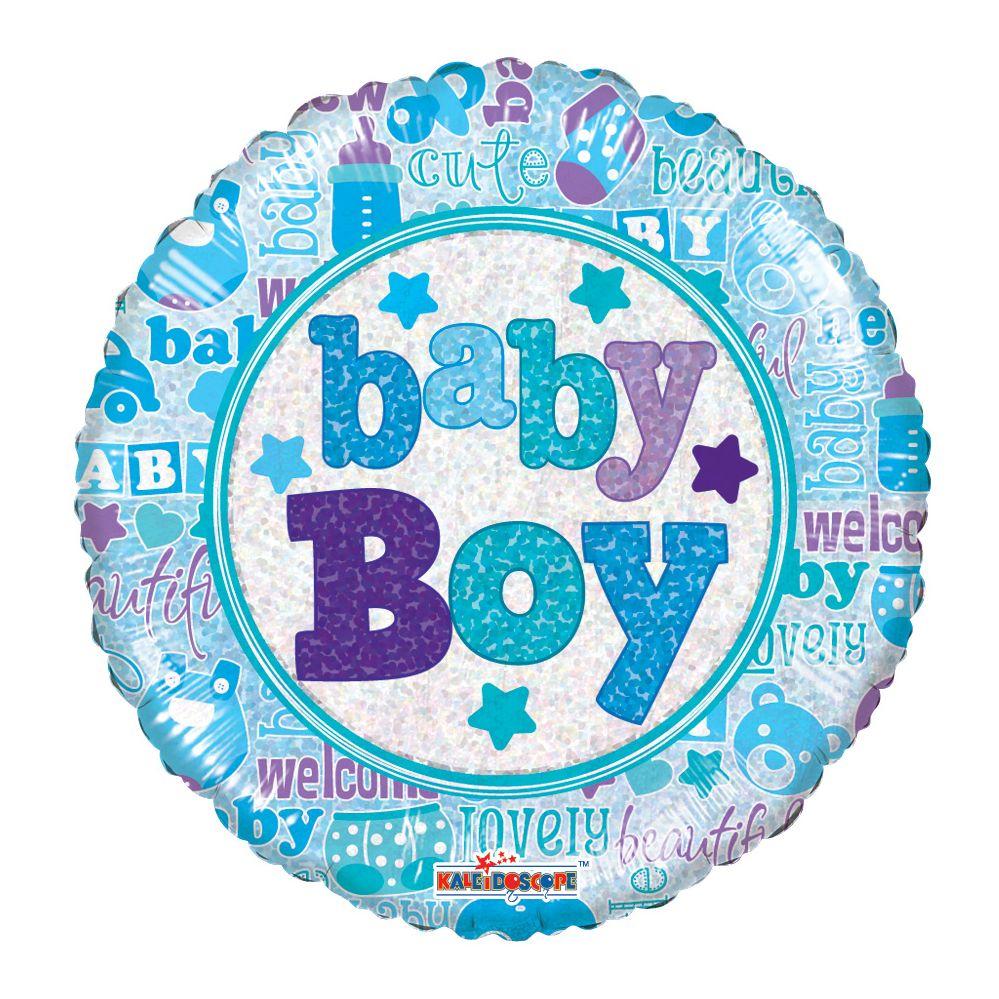 "125 Units of 2-side ""Baby Boy"" premium Balloon"