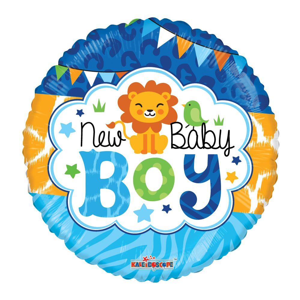 "125 Units of 2-side ""Baby Boy"" premium Balloon - Balloons/Balloon Holder"