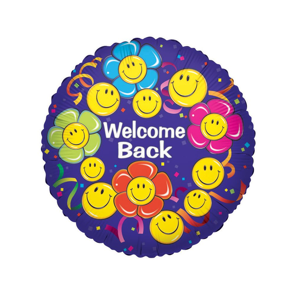 "125 Units of 2-side ""welcome back"" - Balloons/Balloon Holder"