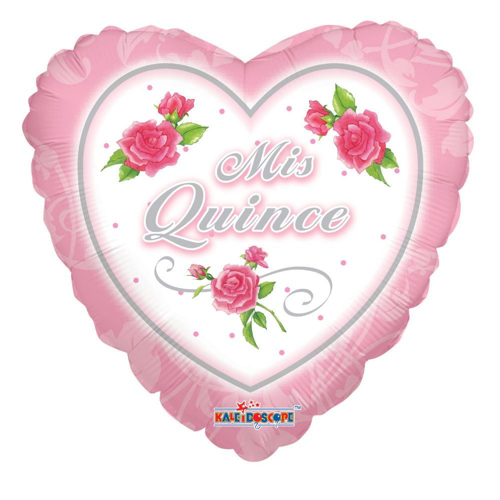 """125 Units of 2-side """"mis quince"""" Balloon"""