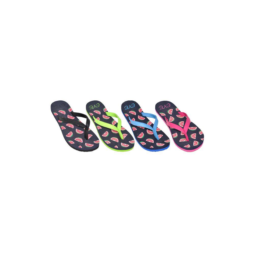 36 Units of Ladies Watermelon Flip Flops - Women's Flip Flops