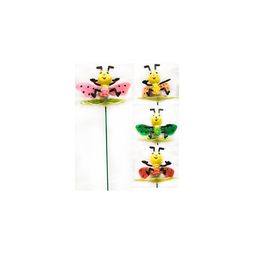 48 units of garden stake decoration 3d colorful bees for 3d garden decoration