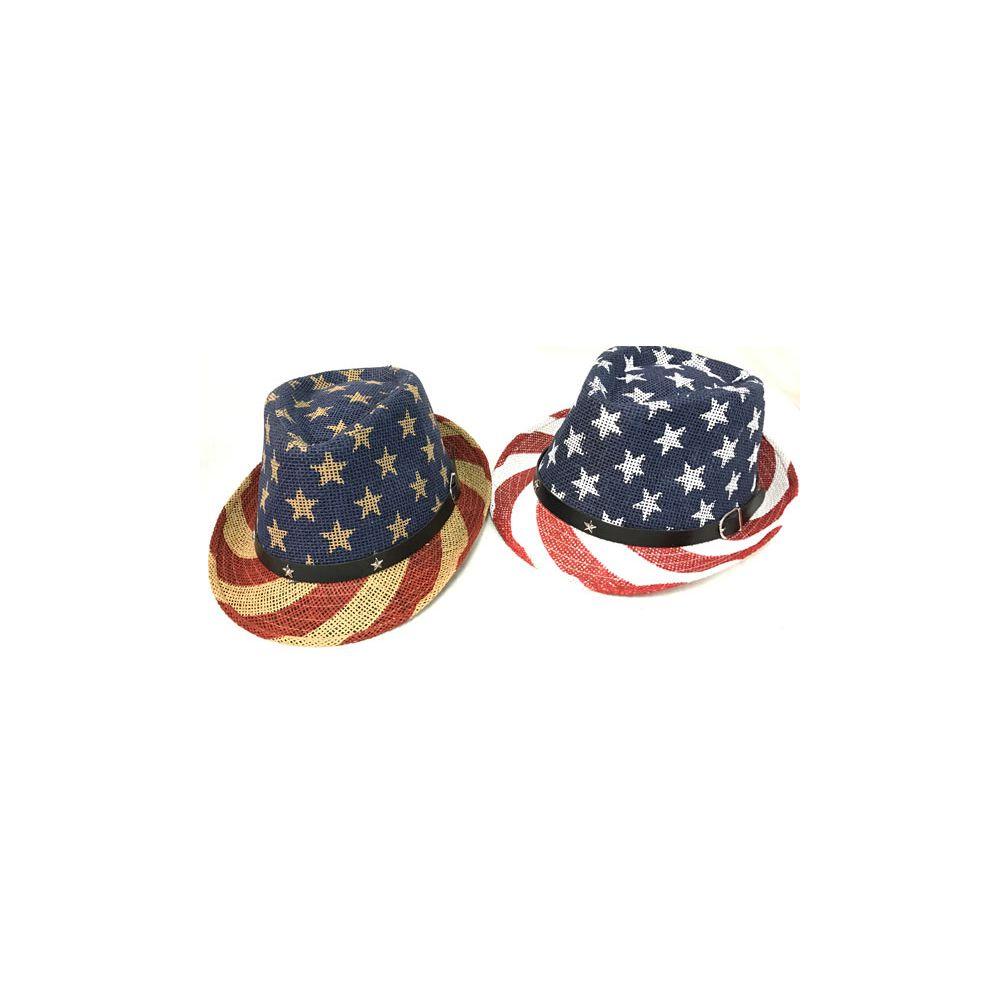 24 Units of Wholesale American Flag Stars   Stripes Print Cowboy Hats -  Cowboy   Boonie Hat - at - alltimetrading.com a720094f226f