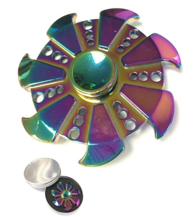 20 Units Of Fidget Spinner Rainbow Metal Pinwheel