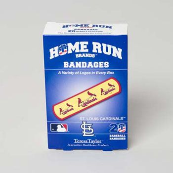 72 Units of Bandages 20ct Box Home Run Brands -st Louis Cardinals  - First Aid / Band Aids