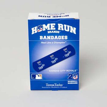 72 Units of Bandages 20ct Box Home Run Brands -kc Royals [14021] - First Aid / Band Aids