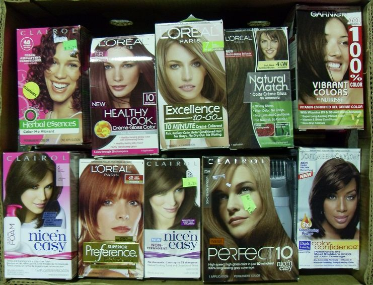 30 Units of Hair Color, Name Brand - Assorted - Hair Accessories ...