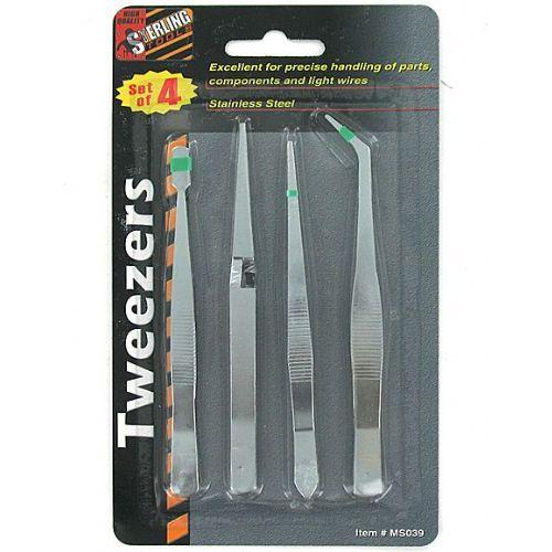 72 Units of Industrial tweezers set