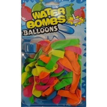 72 Units of 80 COUNT WATER BALLOONS WITH FILLER CAP - Balloons/Balloon Holder