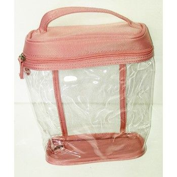 72 Units of COSMETIC BAG - CLEAR/ROSE - Cosmetic Cases