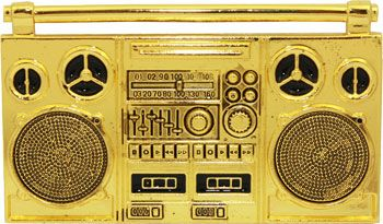 24 Units of Golden Music Tape Belt Buckle - Belt Buckles
