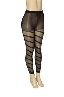 7d6dde3ff 48 Units of One Size Spiral Pinstripe Pattern Footless Tights - Womens  Pantyhose