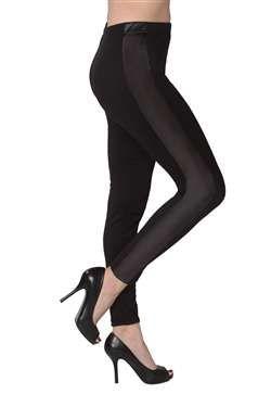 ad203318cf2e9 36 Units of Women's Black Tuxedo Leggings - Womens Leggings - at -  alltimetrading.com