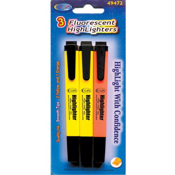 48 Units of HighLighters, 3 Pk.