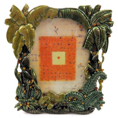 10 Units Of Small Picture Frame With Palm Trees And Rhinestone