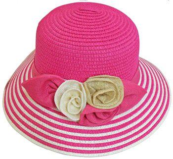 30 Units of Ladies' 2 Tone Bucket Hat w. Flower - Bucket Hats - at - alltimetrading.com