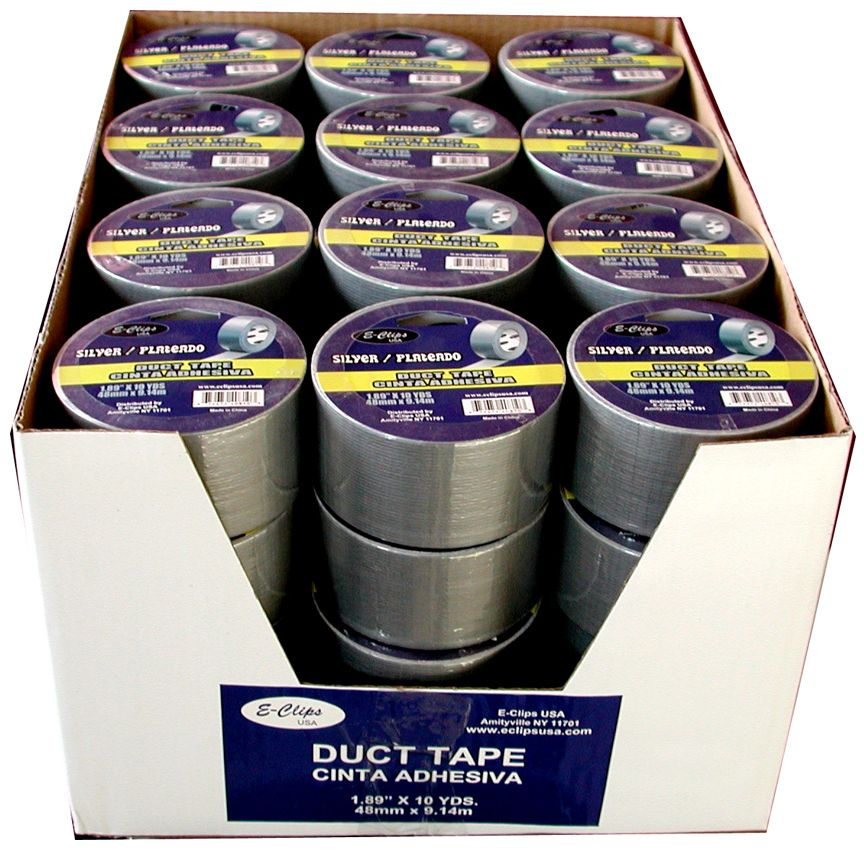 """48 Units of Duct Tape, Silver, 2""""x10 Yds - Tape"""