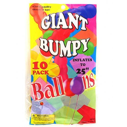 72 Units of Giant bumpy balloons (10 pack) - Balloons/Balloon Holder