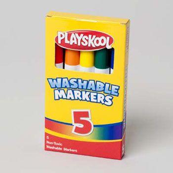 72 Units of Markers 5ct Broadline Washable Playskool - MARKERS/HIGHLIGHTERS
