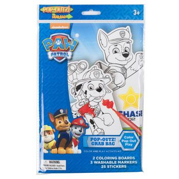 96 Units of Art Boards Paw Patrol Popoutz! Markers, Stickers, Popout Characters - MARKERS/HIGHLIGHTERS