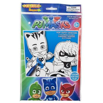 48 Units of Art Boards Pj Masks Popoutz! Markers, Stickers, Popout Characters