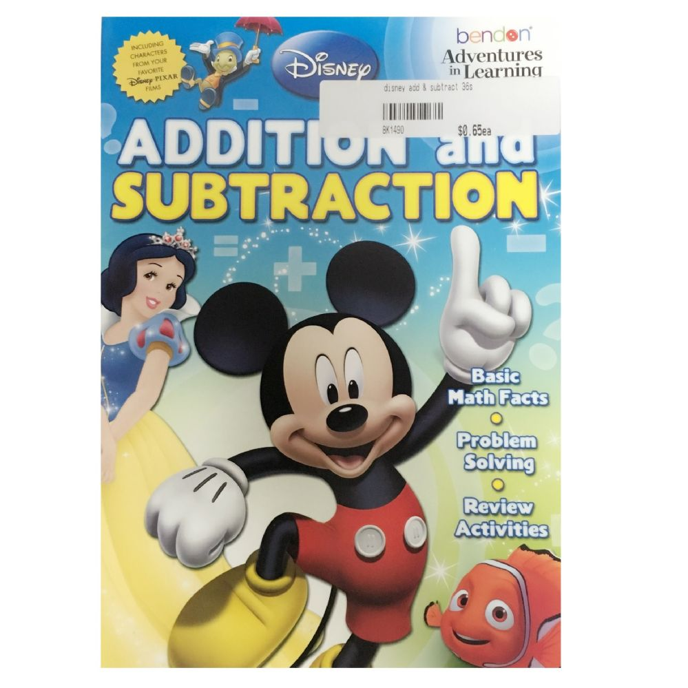 108 Units of Disney add & subtract - Coloring & Activity Books - at ...