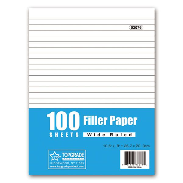 96 Units of 100 count filler paper