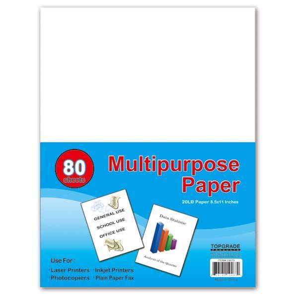 96 Units of 80 count multi purpose paper - PAPER