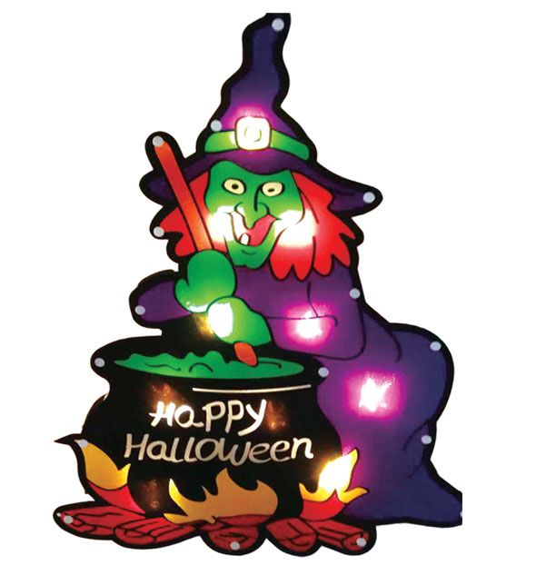 """24 Units of Glitter glow witch 18""""/10L UL - Halloween & Thanksgiving"""