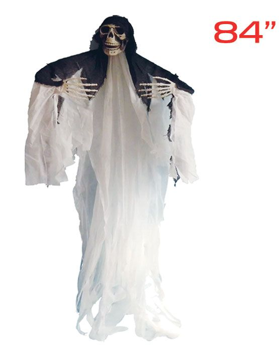 """12 Units of 84""""hanging ghost 6's with black tippet - Halloween & Thanksgiving"""