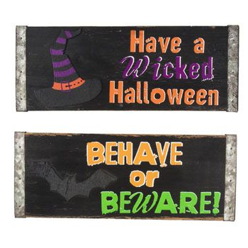 48 Units of WALL PLAQUE HALLOWEEN WELCOME - Halloween & Thanksgiving