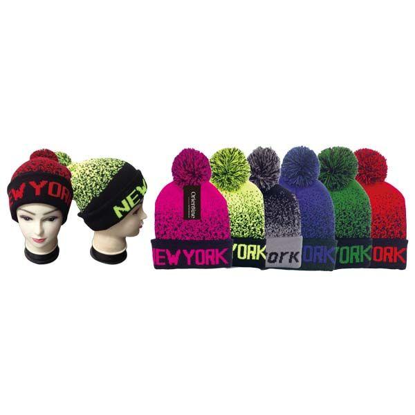 48 Units of Knit Hat NEW YORK - Winter Beanie Hats - at - alltimetrading.com 9e397e7c9fd