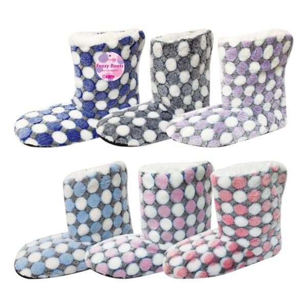 48 Units of Lady's's fuzzy boots size 7/8-9/11 - Womens Slippers