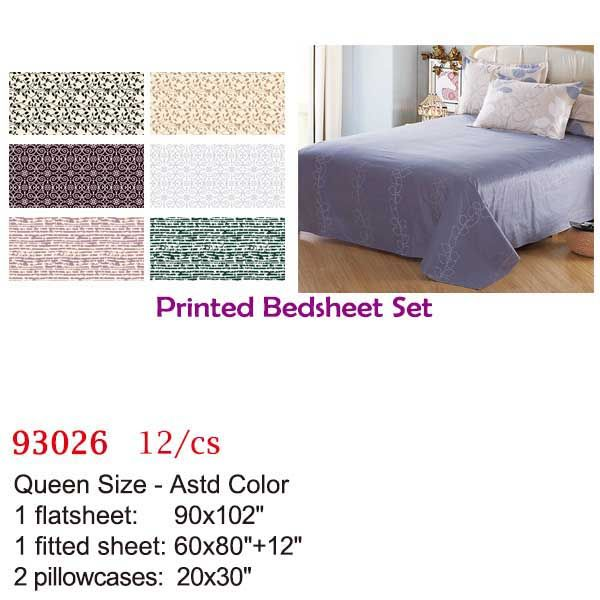 12 Units of Printed bed sheet set/Queen - Bedding Sets