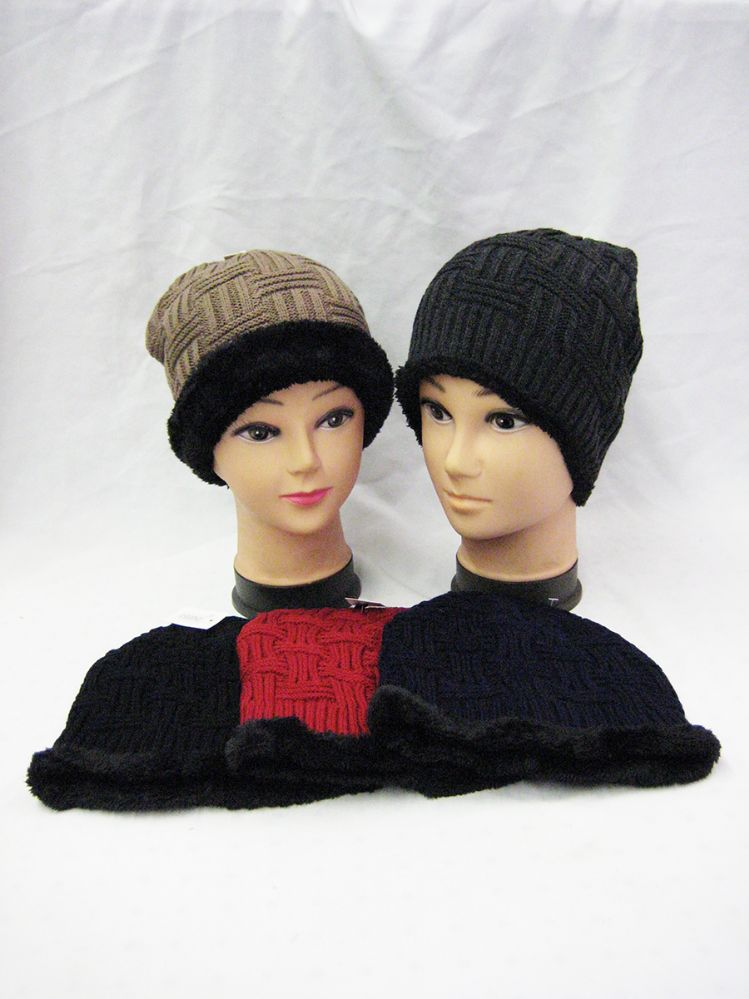 0e267a95965a3 36 Units of Unisex Fur Lined Beanie Winter Hat - Winter Beanie Hats - at -  alltimetrading.com