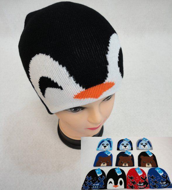 bbfe935cb6c098 36 Units of Child's Knit Hat [Dog/Bear/Shark/Penguin] - Winter Beanie Hats  - at - alltimetrading.com