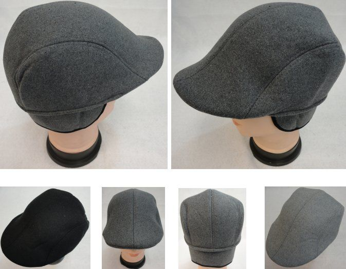 806fb068 36 Units of Warm Ivy Cap with Ear Flaps [Wool-Like Solid Color] Assorted  Colors - Fedoras, Driver Caps & Visor