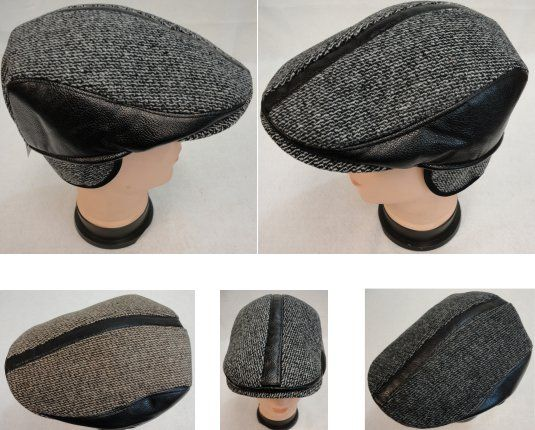 76b68239 24 Units of Warm Ivy Cap with Ear Flaps [Leather-Like Strips] - Fedoras,  Driver Caps & Visor - at - alltimetrading.com